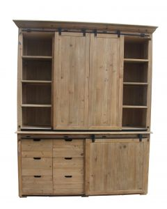Double Barn Door Cupboard