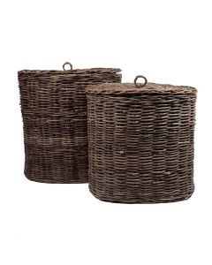 Laundry Basket with Lid Set2