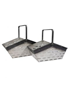 Metal Basket Black Trim Set2