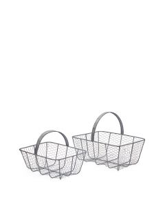 Metal Wire Basket Lge Set2 M2